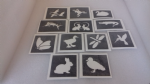 40 x  river themed tattoo stencils for glitter tattoos / airbrush tattoos / face painting swan geese duck crocodile butterfly